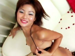 Katsumi is having gentle anal sex with her lover