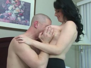 This hot big breasted mom loves fucking and sucking