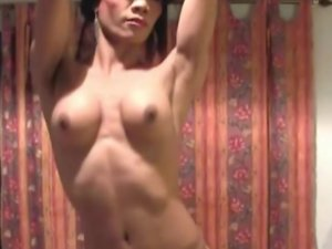 Passionate Asian tranny jerks off her shecock until she cums