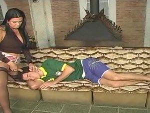 Karol attractive tranny on video