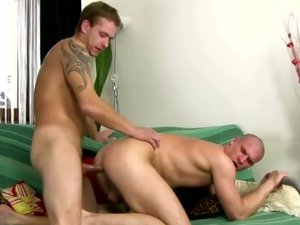There's a guy on his knees sucking