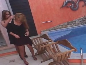 Marjorie Romao tranny screwing gal on video