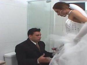 Angel voluptuous shemale bride