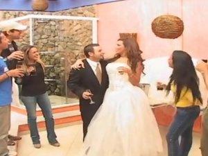 Marjorie shemale bride in action