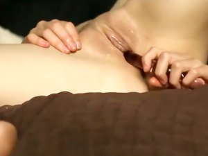 Redhead is on her back