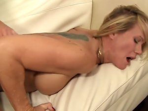 Skinny Blonde Babe Loves To Suck And Fuck Big Dick